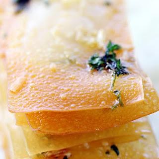 Garlic Parmesan Wonton Crisps
