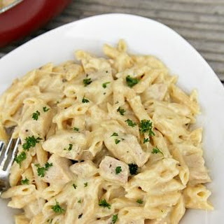 One Pot Cheesy Chicken Alfredo.