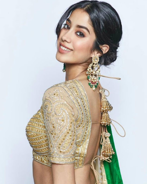 Janhvi Kapoor sexy back, Janhvi Kapoor indian, Janhvi Kapoor in saree, Janhvi Kapoor blouse