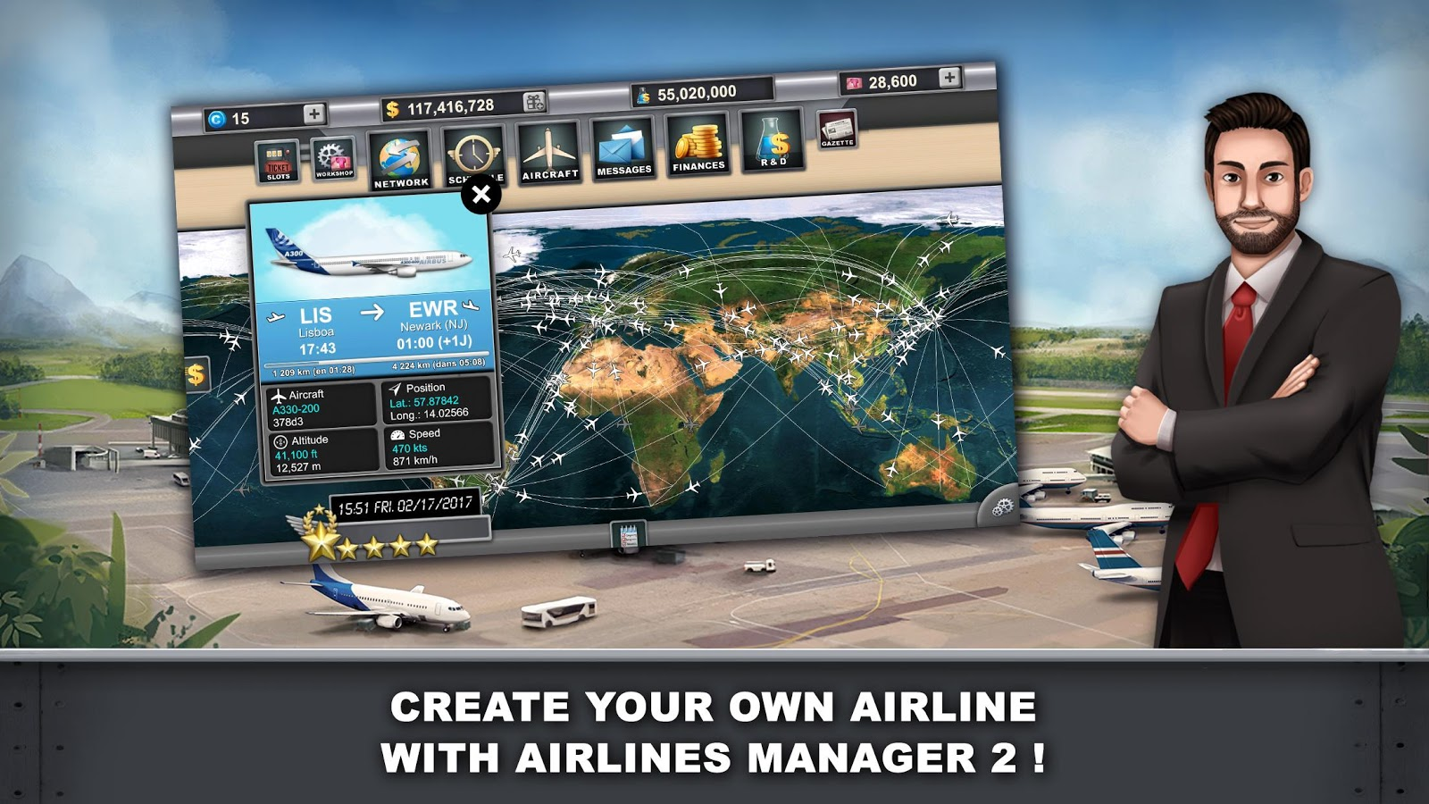 Airlines Manager 2 - Tycoon- screenshot