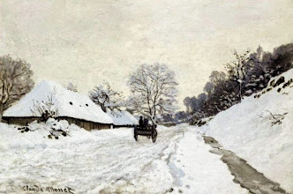 """Photo: Claude Monet,  """"Il calesse. Strada coperta di neve a Honfleur"""" (1867)"""