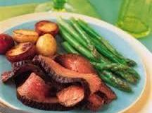 Peppery Top Round Steak / Parmesan Asparagus Recipe
