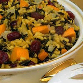 Spiced Wild Rice Pilaf with Butternut Squash and Dried Cranberries