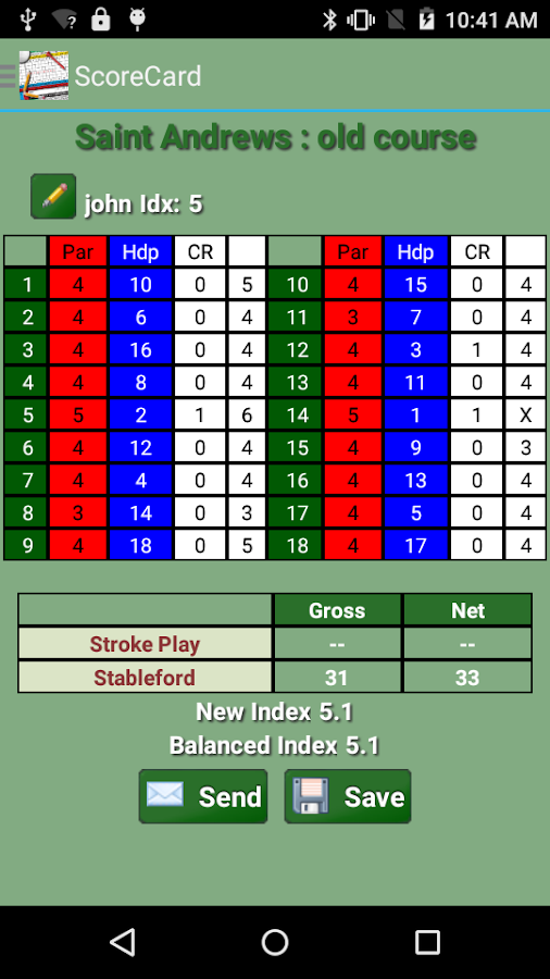 Golf ScoreCard Free- screenshot
