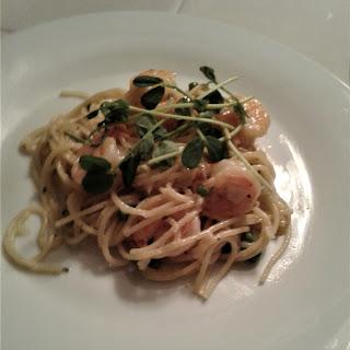 Shrimp Spaghetti Carbonara.