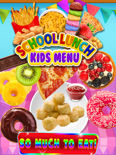 School Lunch Food - Kids Menu Pizza & Ice Cream 1.1 screenshots 2