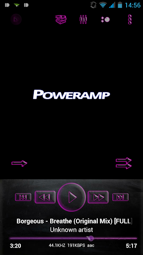 Poweramp Skin Pink Glass