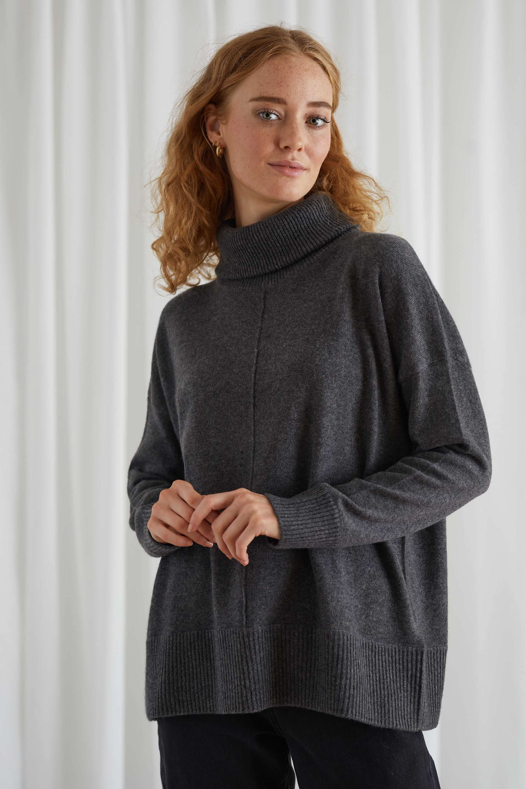 Double Collar Wide Sweater