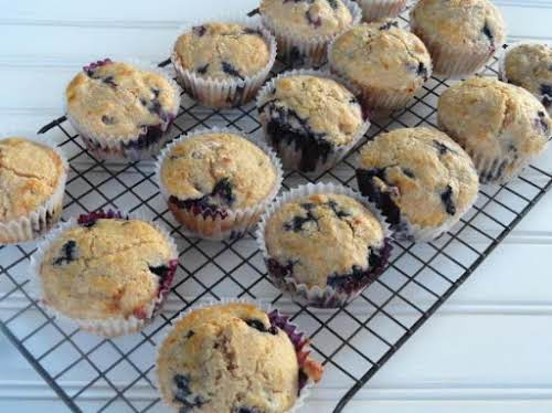 "Healthy Blueberry Muffins ""This blueberry muffin recipe is easy to make and..."