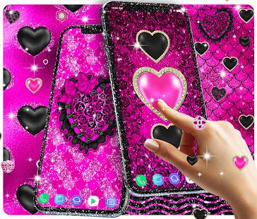 Black Pink Glitter Live Wallpaper Apps On Google Play