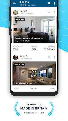 SpareRoom UK — Flatmate, Room & Property Finder screenshot