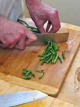 Photo: cutting long beans