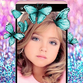 Butterfly Crown Photo Editor Filters Stickers