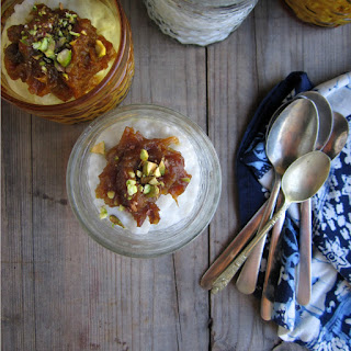 Creamy Coconut Rice Pudding With Date Compote