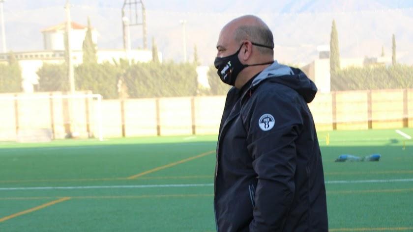 Juan Carlos Cintas, entrenador del conjunto virgitano.