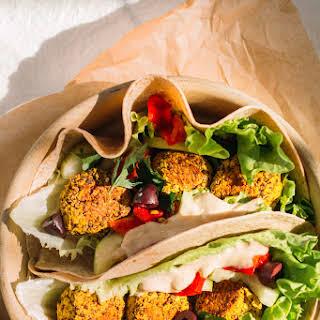 Herby Quinoa Falafel With Tahini Lemon Sauce (vegan).
