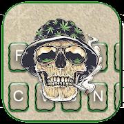 ثيم لوحة المفاتيح Joint Smoke Skull Warrior APK