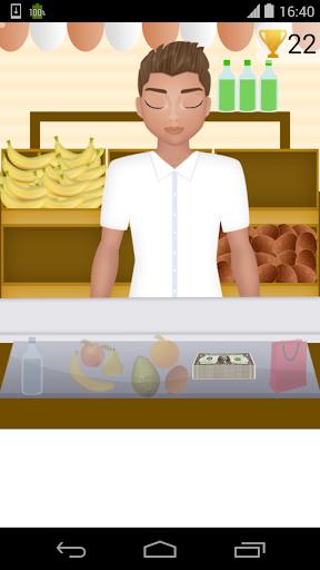 食料品店のレジ