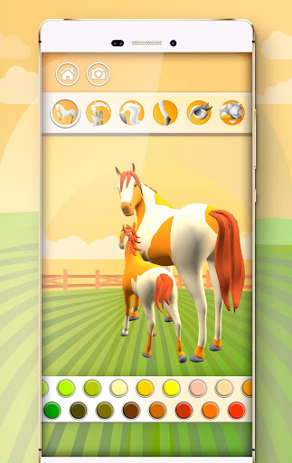 Horse Coloring Book 3D image   4