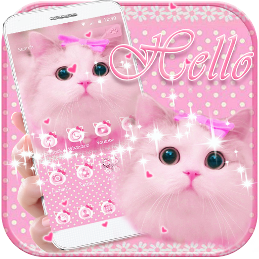 Cute Kitty theme Pink Bow Kitty file APK for Gaming PC/PS3/PS4 Smart TV