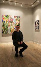 Photo: Allen Shugar, artist and Curator of Urban Gallery @ Winter Snow Ball Jan 2014