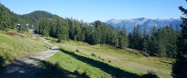 Blick zum Daumen, Nebelhorn und Hochvogel.