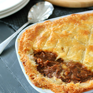 STEAK, GUINNESS & CHEESE PIE Recipe