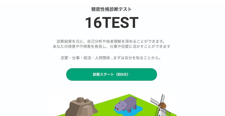 精密性格診断テスト16TEST