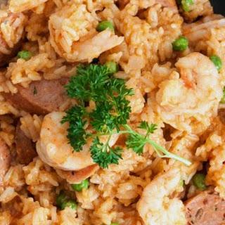 Baked Shrimp and Andouille Jambalaya