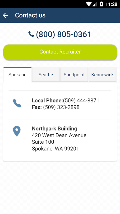 Provisional Staffing Job Search- screenshot