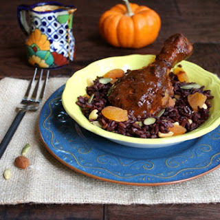 Chicken Mole with Fall Harvest Rice
