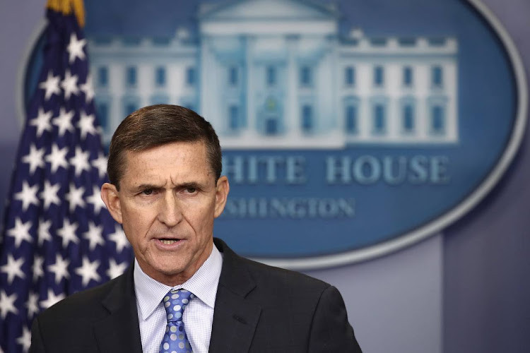 National Security Adviser Michael Flynn answering questions in the briefing room of the White House on Feb. 1. Picture: WIN MCNAMEE/GETTY IMAGES
