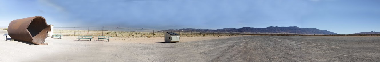 Photo: Trinity Site parking lot with Jumbo to the left - the actual Trinity site is approximately 1/4 mile to the left