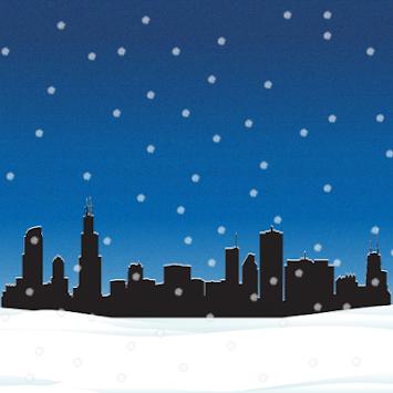 Chicago Snow Globe Live Wallpaper Poster