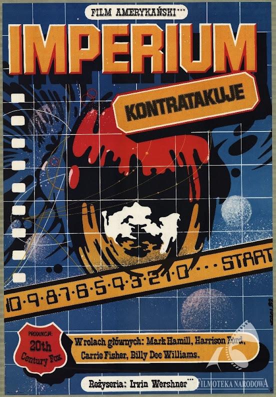 Polski plakat filmu Gwiezdne Wojny - Imperium kontratakuje