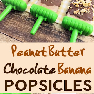 Peanut Butter and Chocolate Covered Banana Pops