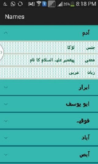 Urdu Baby Names Screenshot