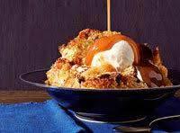 Banana Walnut Bread Pudding With Caramel Glaze