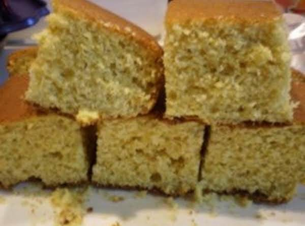 This Is What The Cornbread Will Look Like When It's Done. Great With Real Butter And Honey! We Also Use The Leftovers For Cornbread Dressing During The Holidays, Freezes Great!