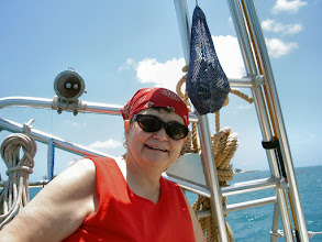 Photo: ...Mom, not so much!! She was seasick the whole trip.  What a trooper!