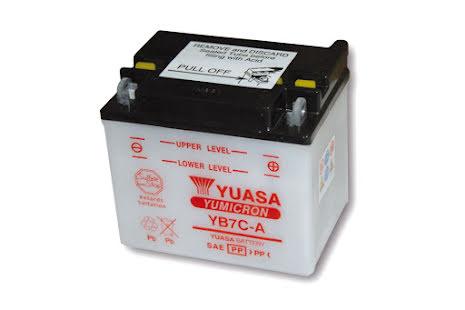 YUASA MC-batteri YB 7C-A utan syrapack