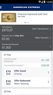 Amex UK- screenshot thumbnail