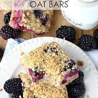 Blackberry Yogurt Oat Bars.