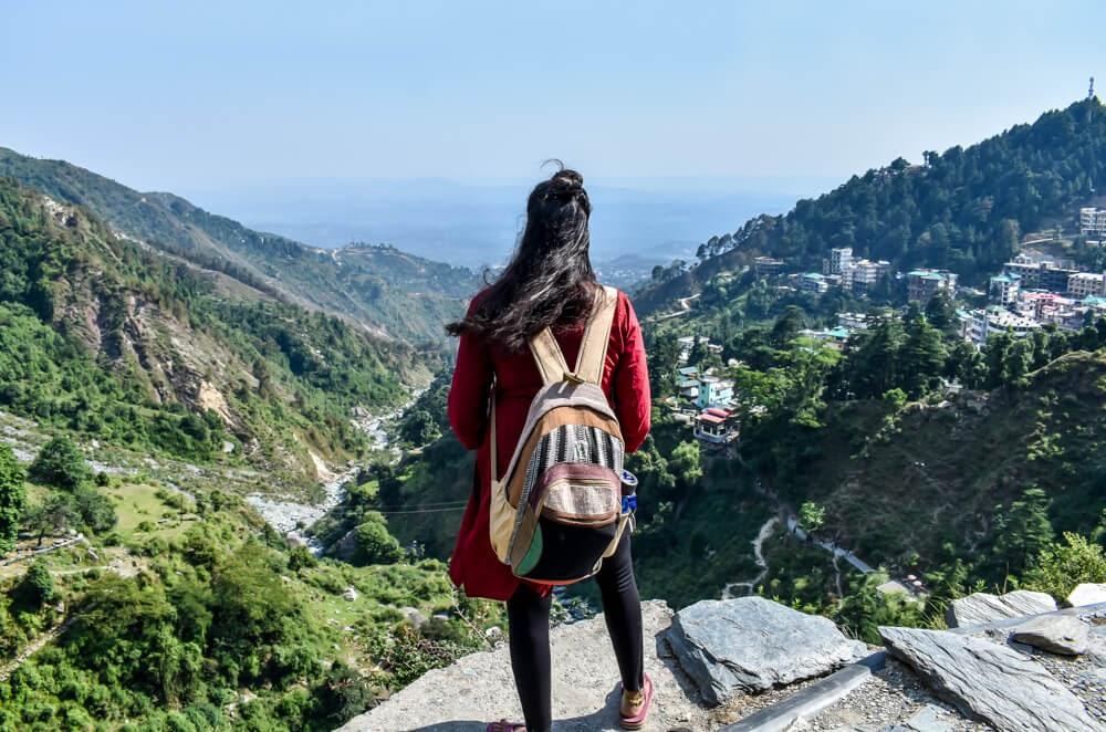 solo+indian+woman+trek+bhagsu+falls upper+bhagsu dharamshala +places+near+dharamshala himachal+pradesh