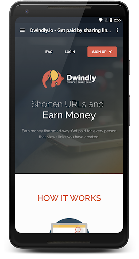 Dwindly.io - Earn Money By Sharing Links! 1.1 screenshots 2