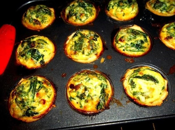 Bake until puffed and golden brown, about 30 minutes. Transfer each quiche to a...