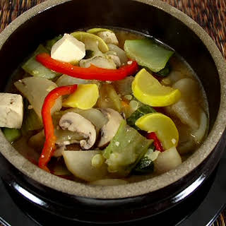 Korean Tofu and Vegetable Stew.