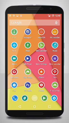 Papery Halo Icon Pack