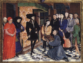 Photo: Miniature from the first page of the Chroniques de Hainaut, c. 1448