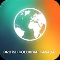 British Columbia, Canada Map icon